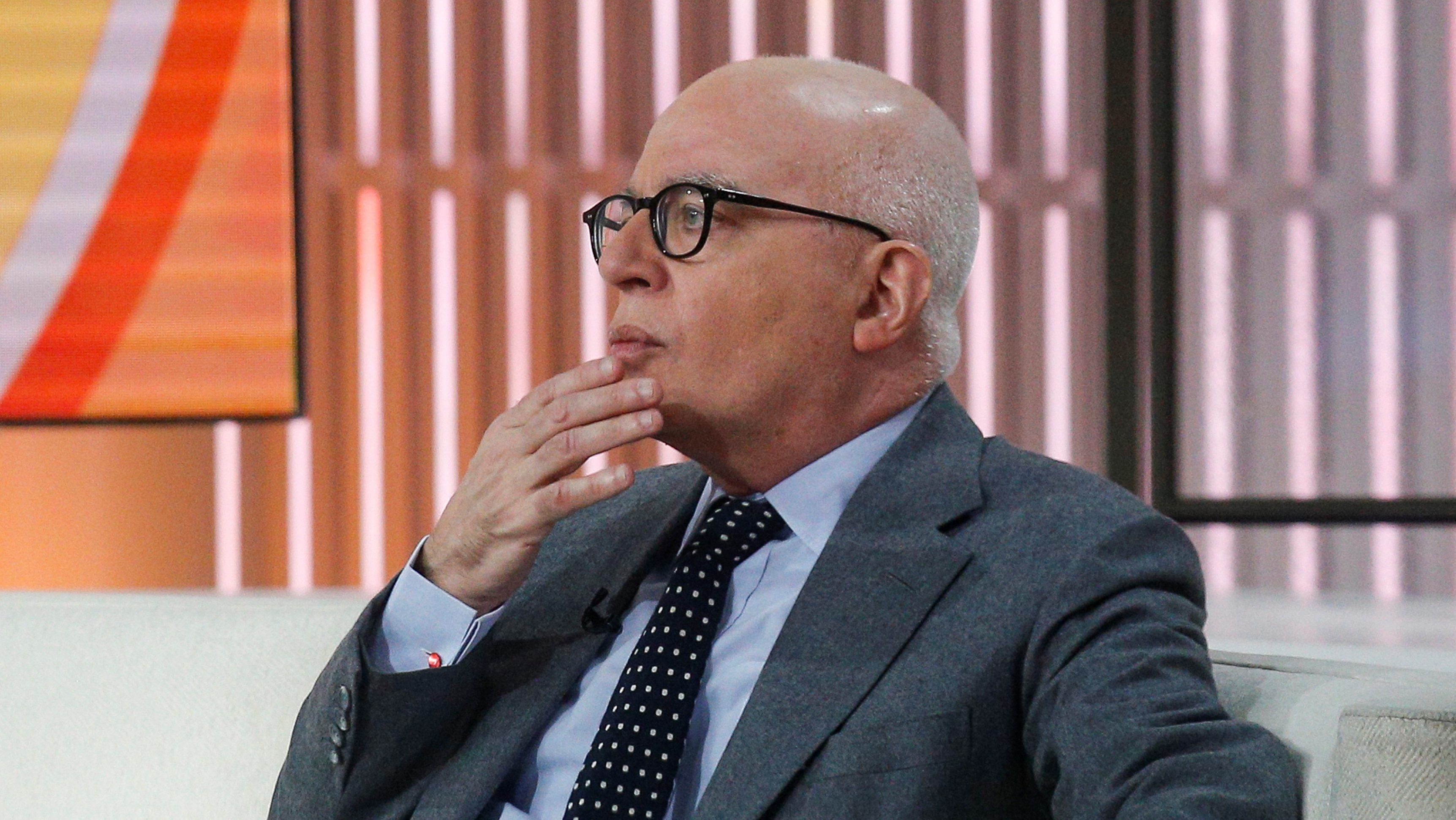 """Author Michael Wolff is seen on the set of NBC's 'Today' show prior to an interview about his book """"Fire and Fury: Inside the Trump White House"""" in New York City, U.S., January 5, 2018. REUTERS/Brendan McDermid - RC1F9A39E240"""