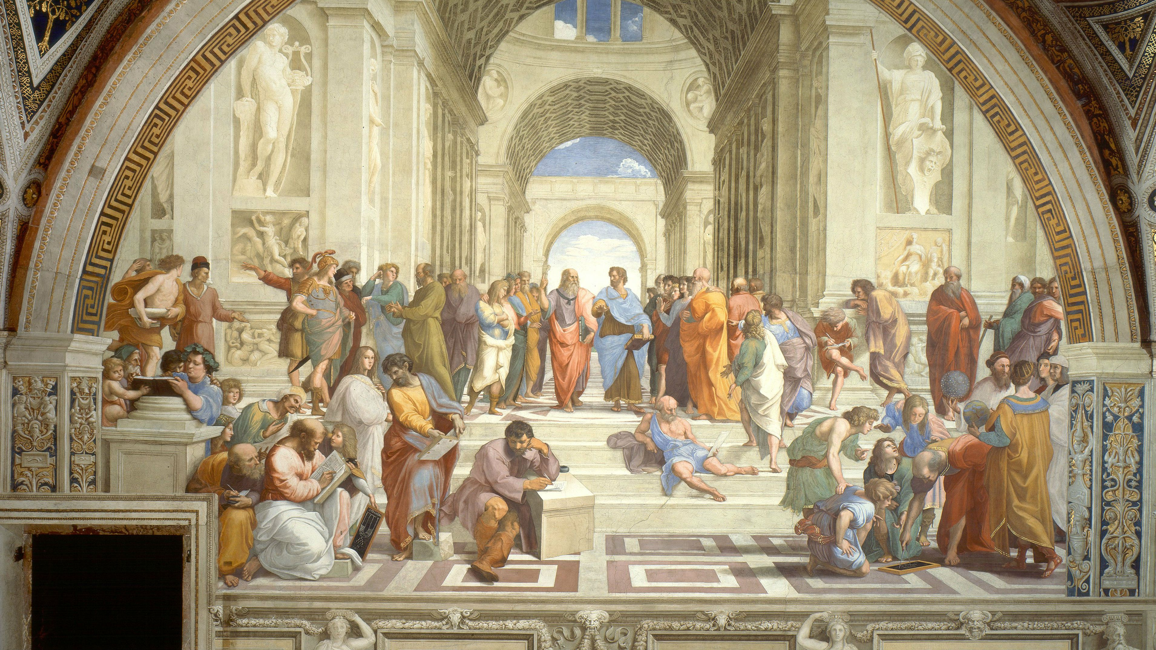 """Raphael's """"School of Athens"""" painting"""