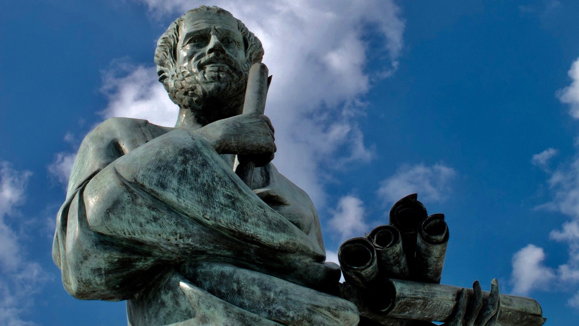Socrates statue.