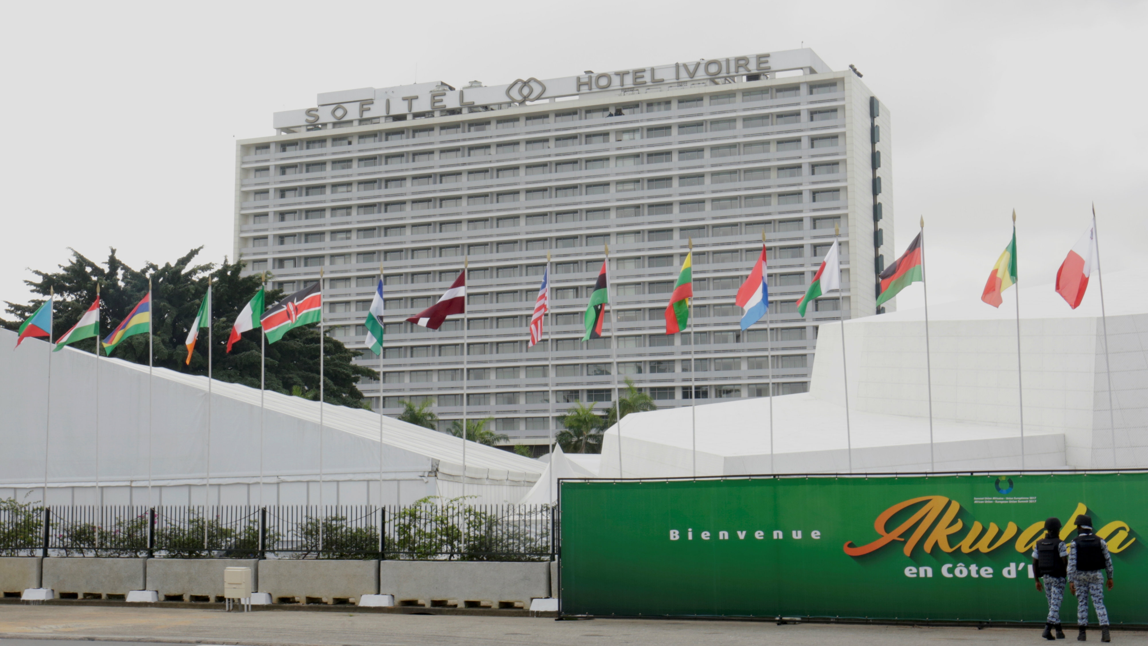 The Sofitel Abidjan Hotel Ivoire, where the 5th African Union - European Union (AU-EU) summit will take place, is pictured in Abidjan, Ivory Coast November 30, 2017