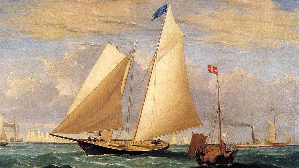 The_Yacht_'America'_Winning_the_International_Race_Fitz_Hugh_Lane_1851