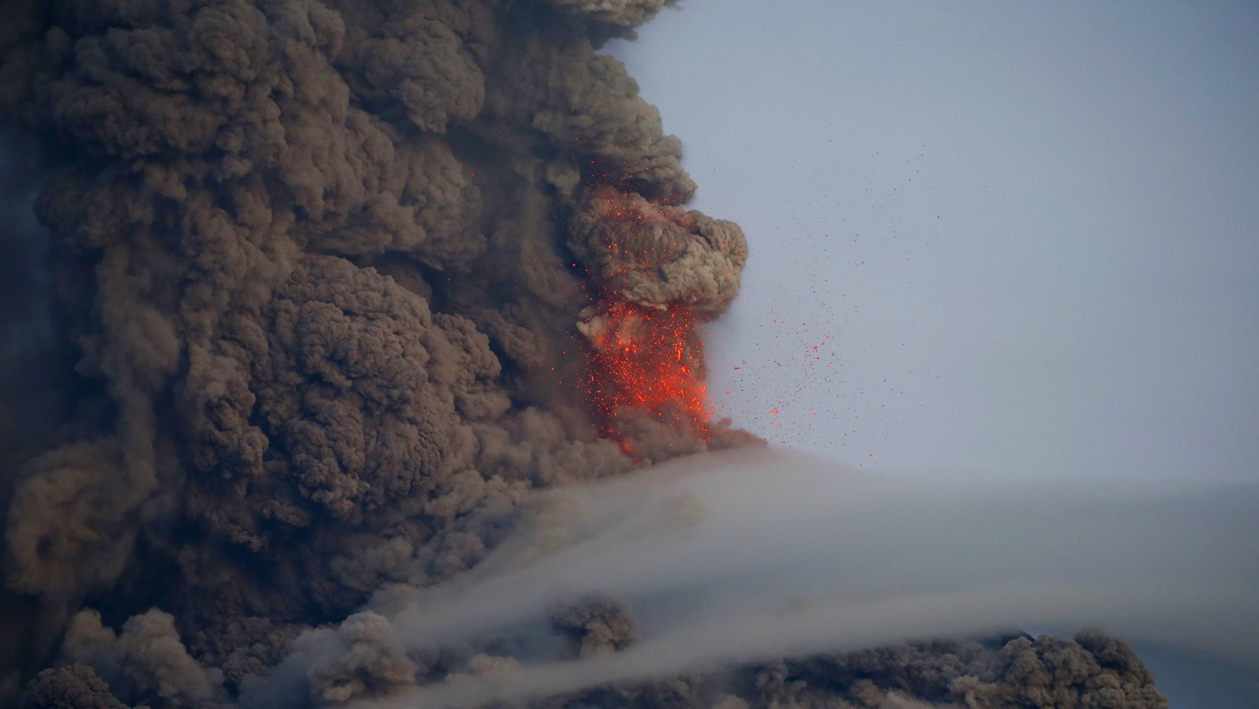 Predicting volcanic eruptions.