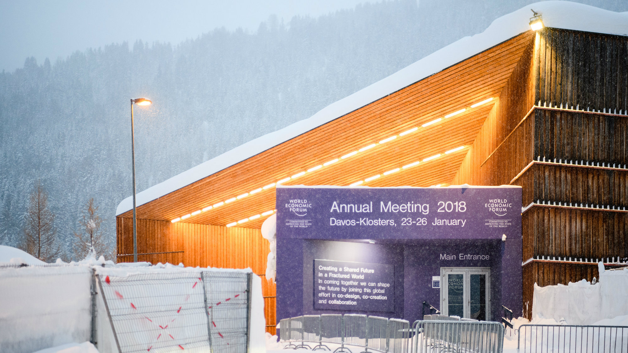 WEF 2018 Davos exterior view