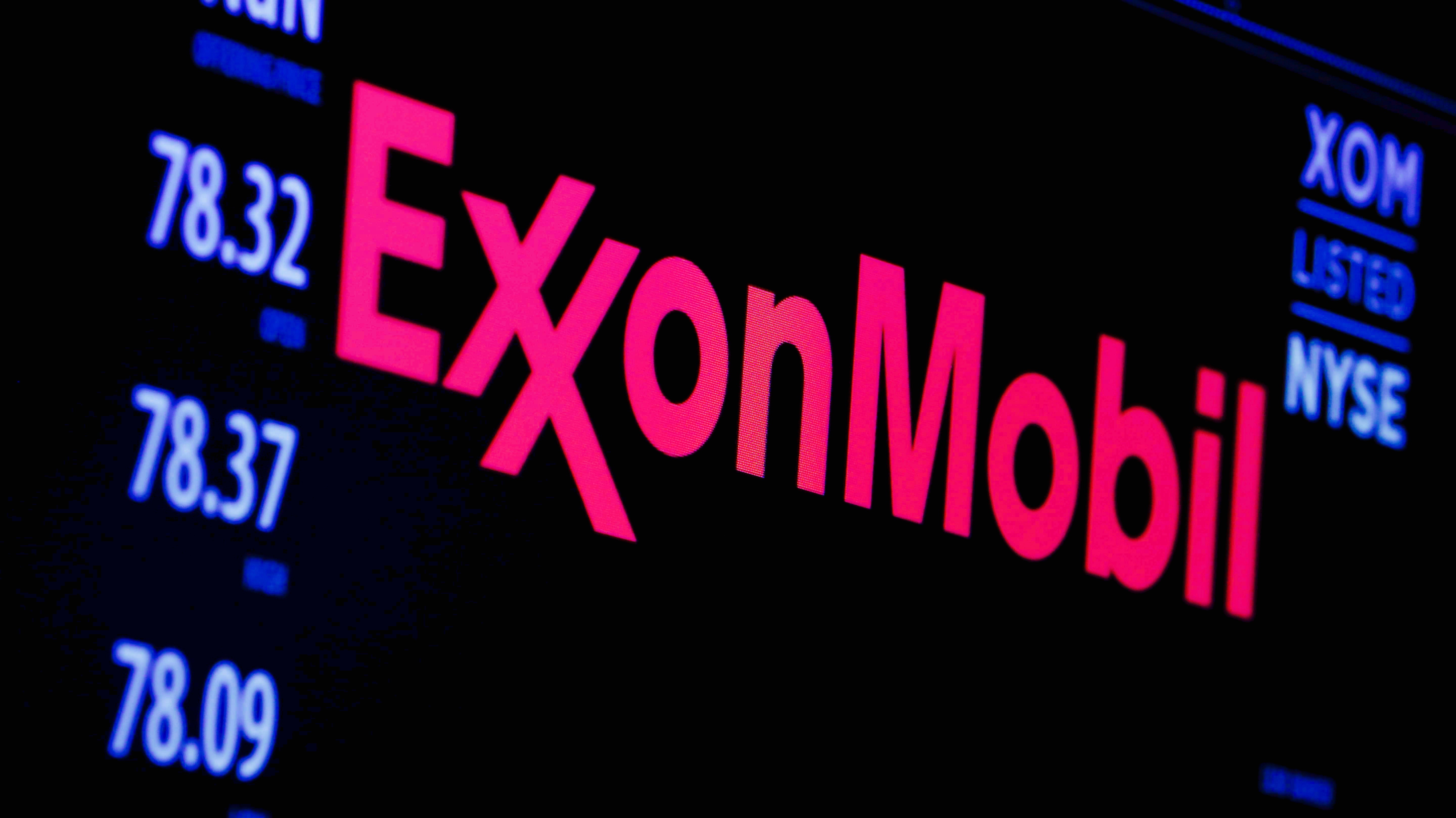The logo of Exxon Mobil Corporation