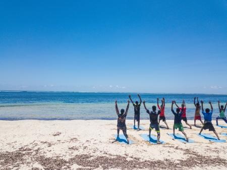 Elman hopes to conduct research on the impact of yoga on victims of war in Somalia.
