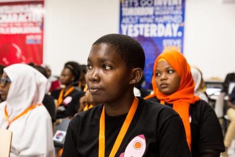 Hyasinta Luhinga, 18, at the Girls Entrepreneurship Summit in Dar es Salaam