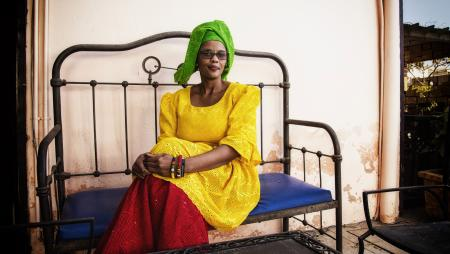 Aisha Dabo, half Senegalese half Gambian, blogger and web activist, she lives in Dakar where is the league of cyber-activists