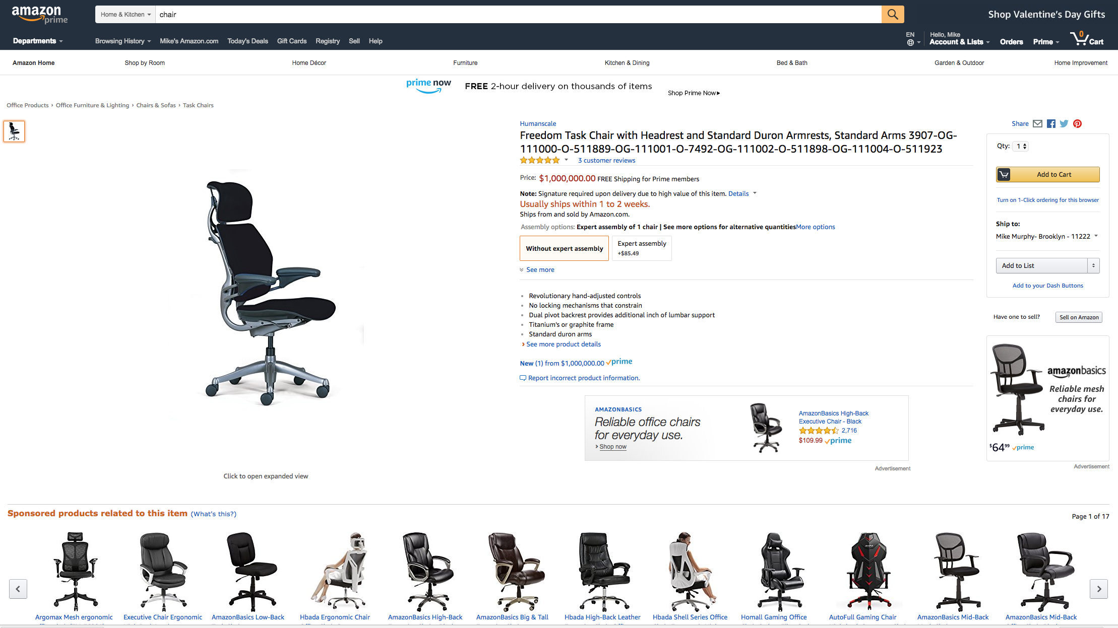 This Desk Chair Cost 1 Million On