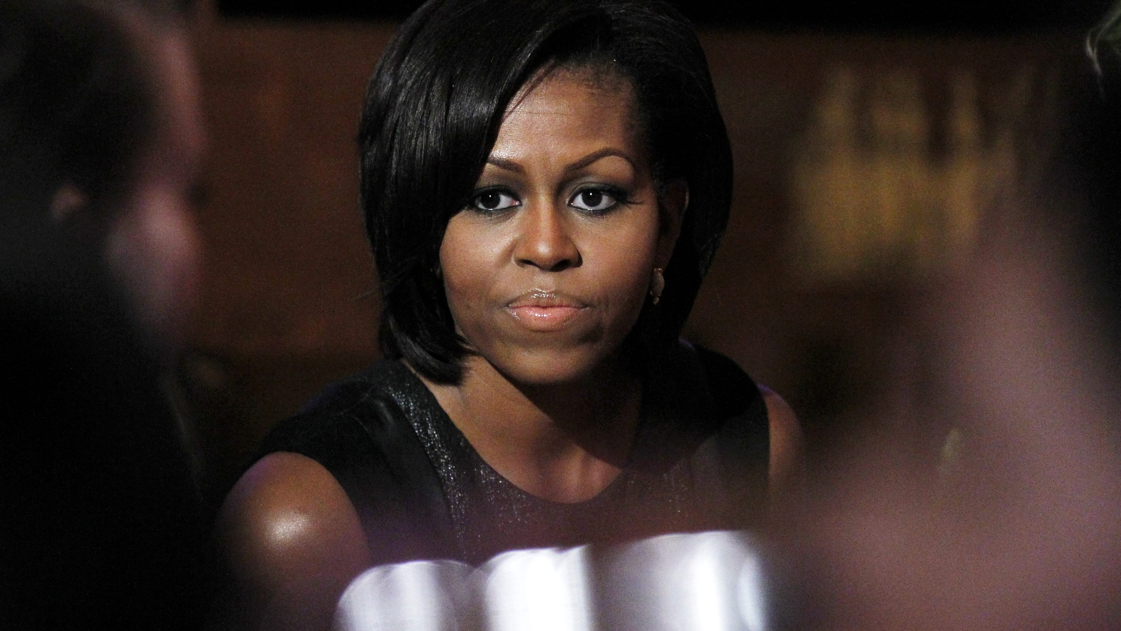 First lady Michelle Obama hosts mentoring event to celebrate Women's History Month in the East Room at the White House in Washington, Wednesday, March 30, 2011. (AP Photo/Manuel Balce Ceneta)