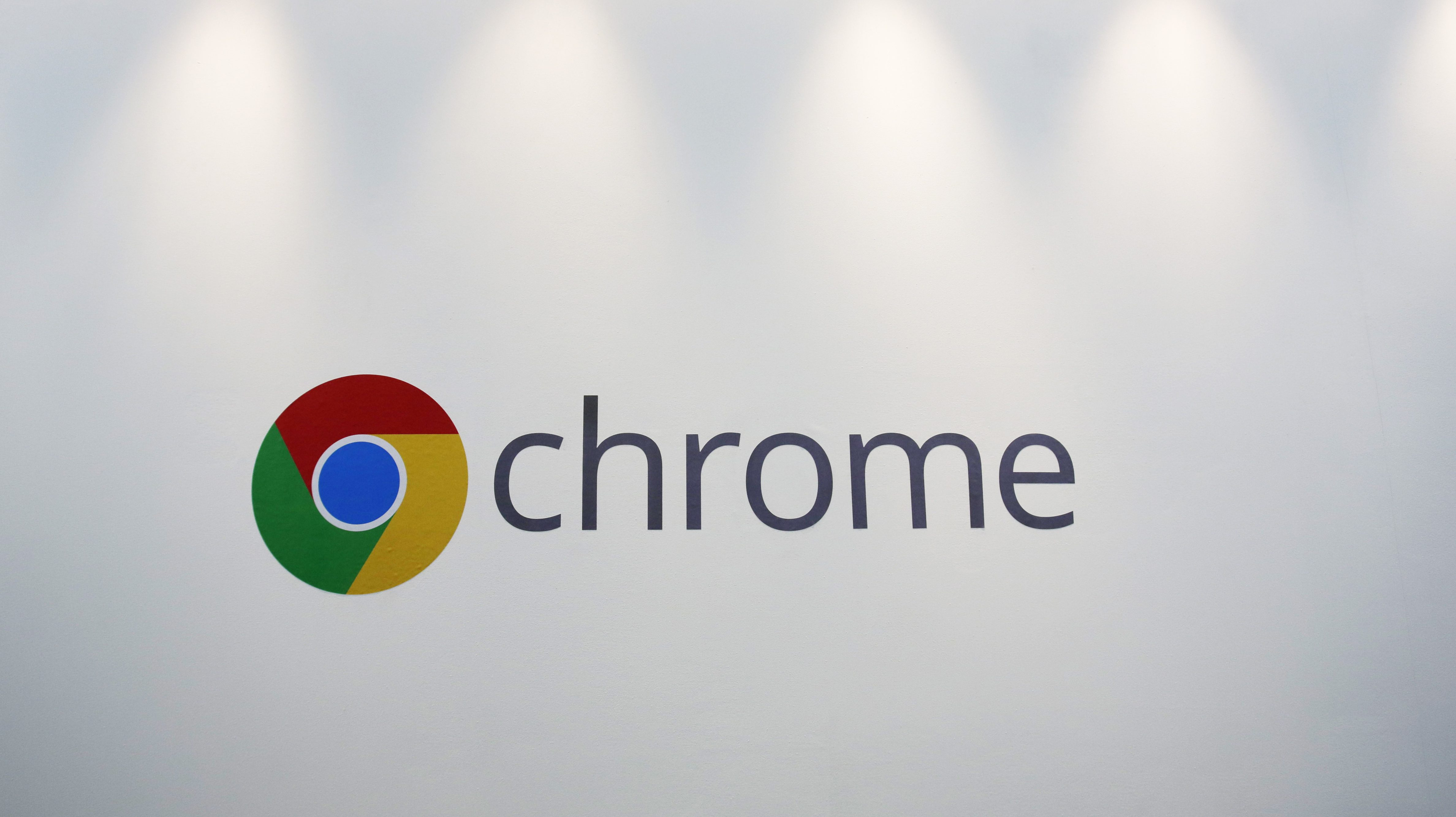 FILE - This Tuesday, Oct. 8, 2013, file photo, shows the Chrome logo displayed at a Google event, in New York. Google says its Chrome browser will block ads on websites it deems too annoying for web users starting in 2018. The digital-ad giant's announcement comes as hundreds of millions of internet users fed up with ads that track them and make browsing sites difficult have already installed ad blockers on their desktop computers and phones. (AP Photo/Mark Lennihan, File)
