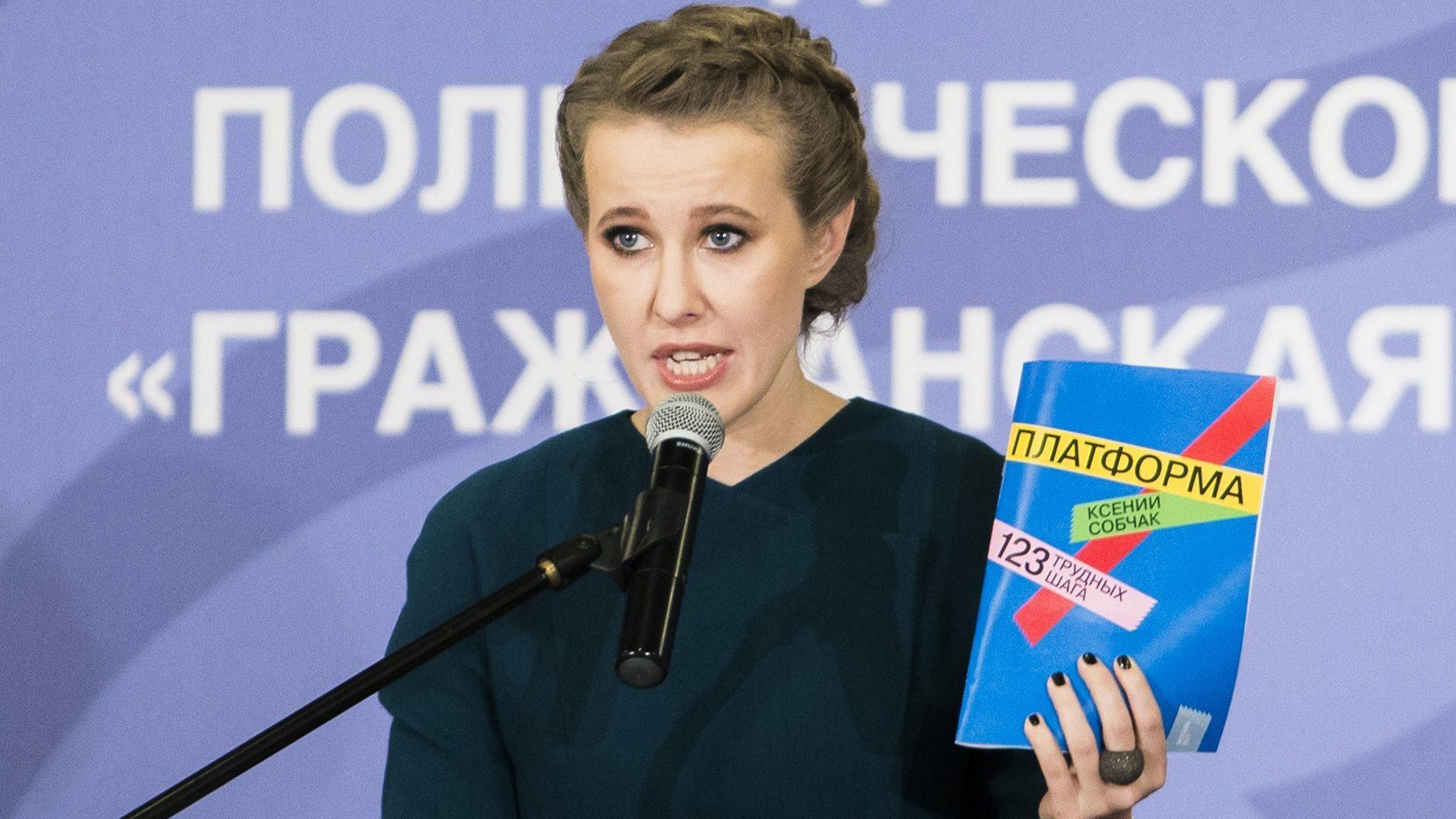 Sobchak unveils her 123-step policy program.