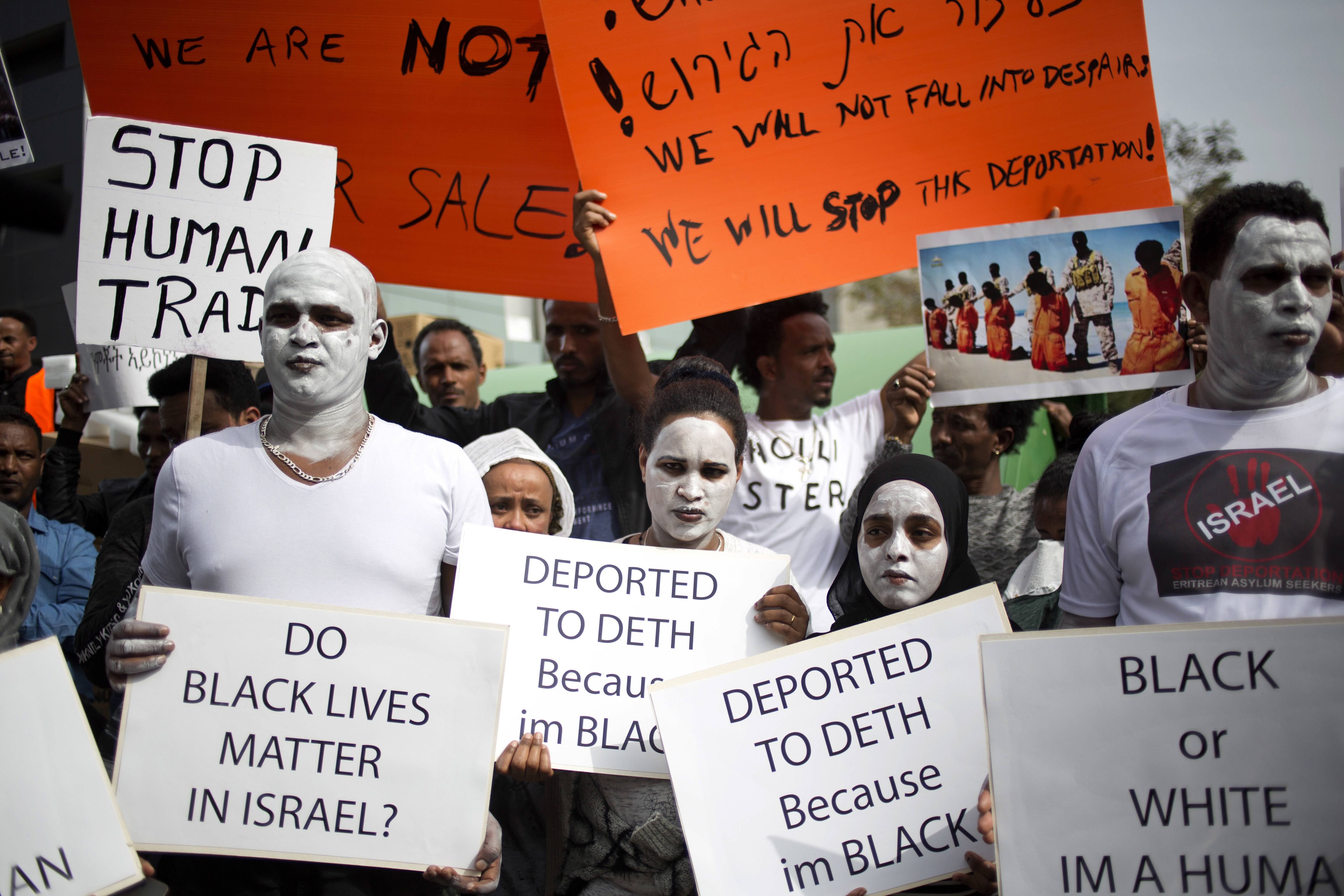 Tens of thousands of African asylum seekers have until April 1 to leave Isrel for an unnamed African destination in exchange for $3,500 and a plane ticket, or they will be incarcerated indefinitely.
