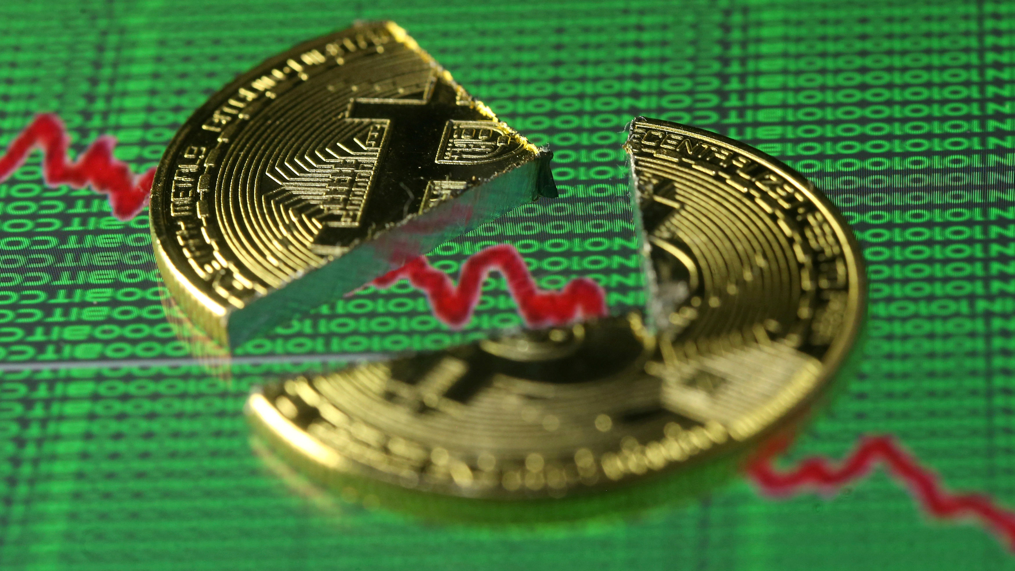Broken representation of the Bitcoin virtual currency