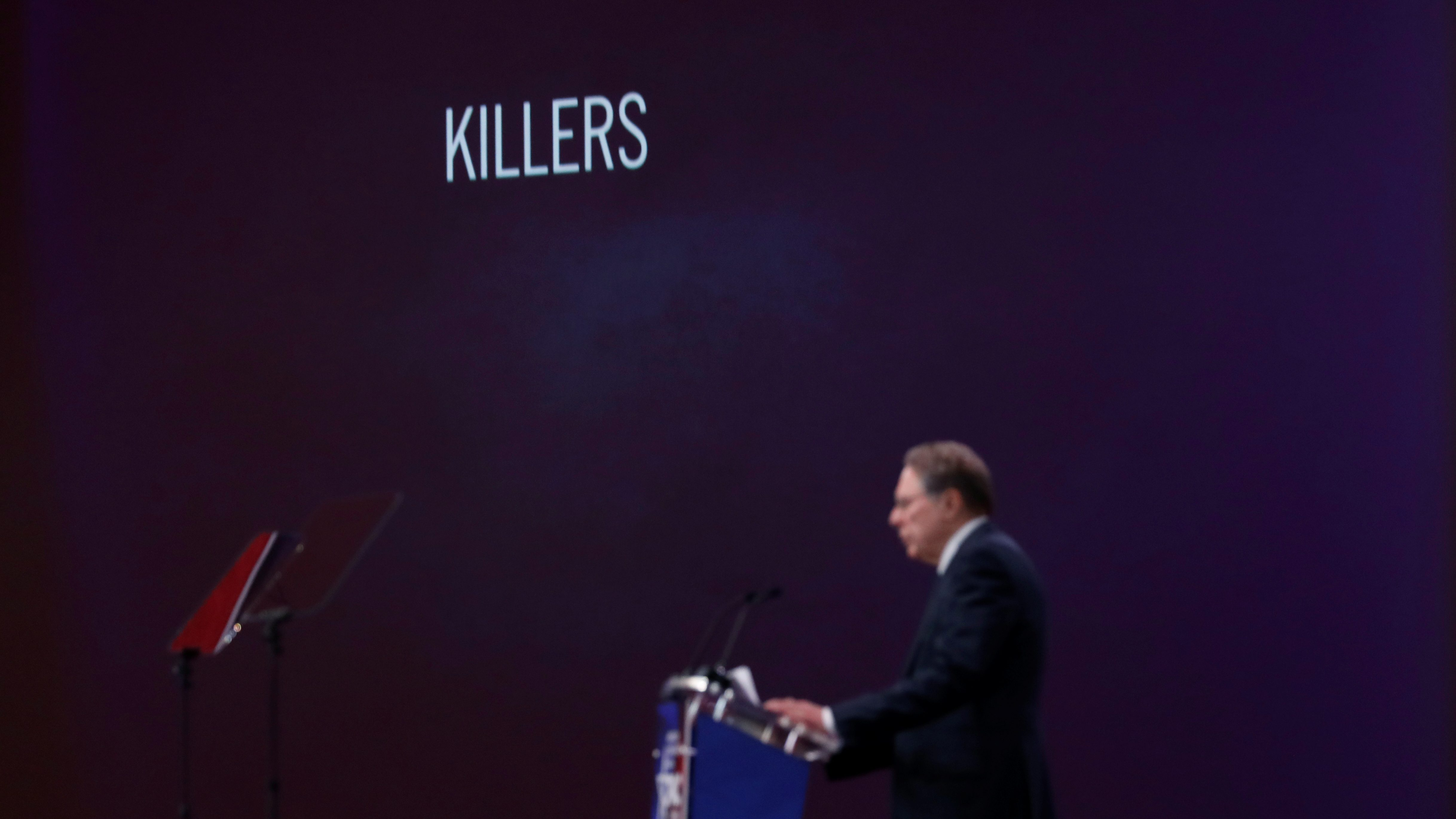 NRA CEO Wayne LaPierre speaks at the Conservative Political Action Conference