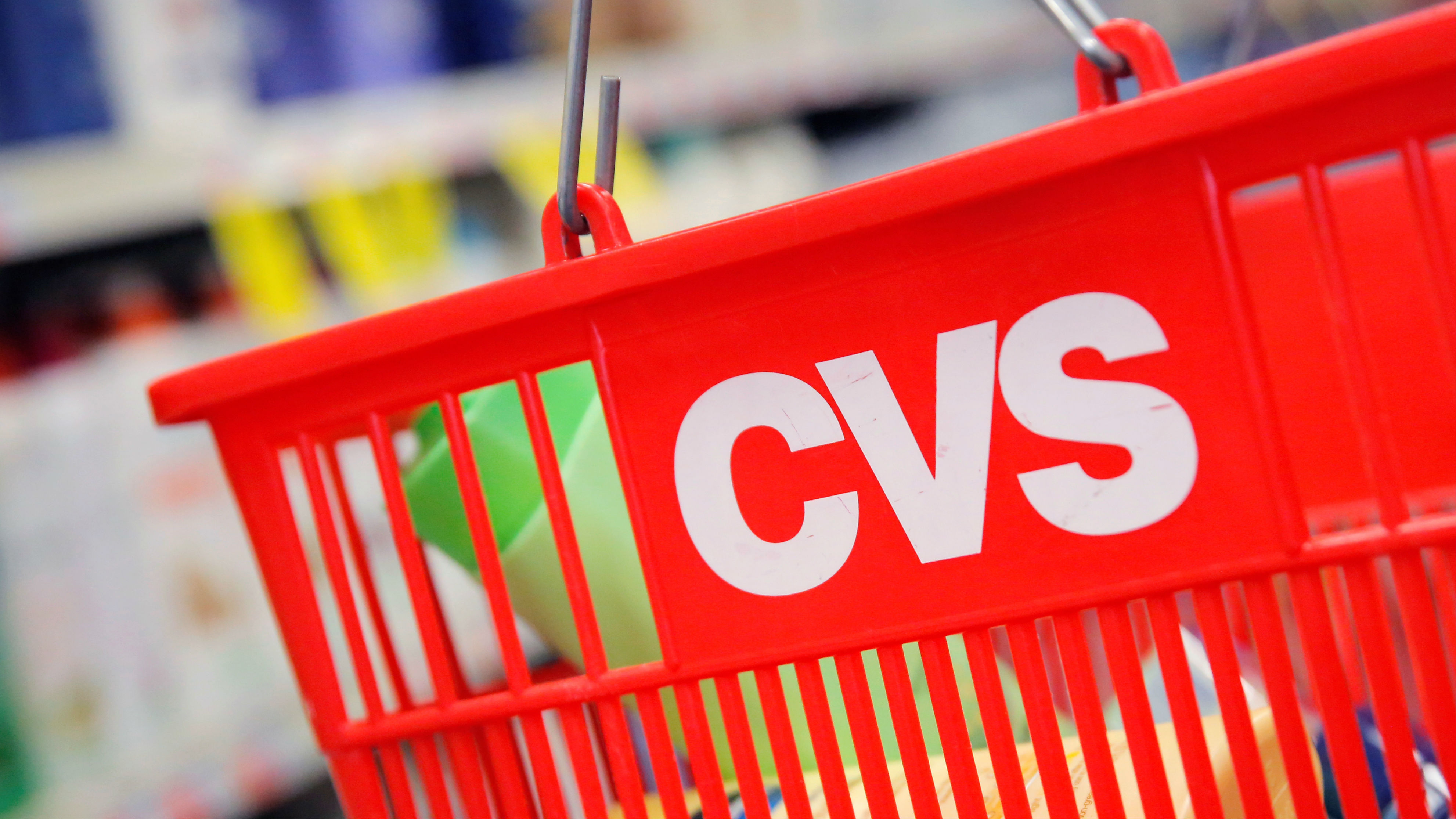 The CVS logo is seen at one of their stores in Manhattan, New York, U.S., August 1, 2016.