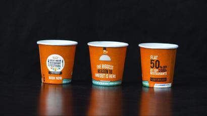 Indian startup CupShup is selling ad space on paper tea cups to