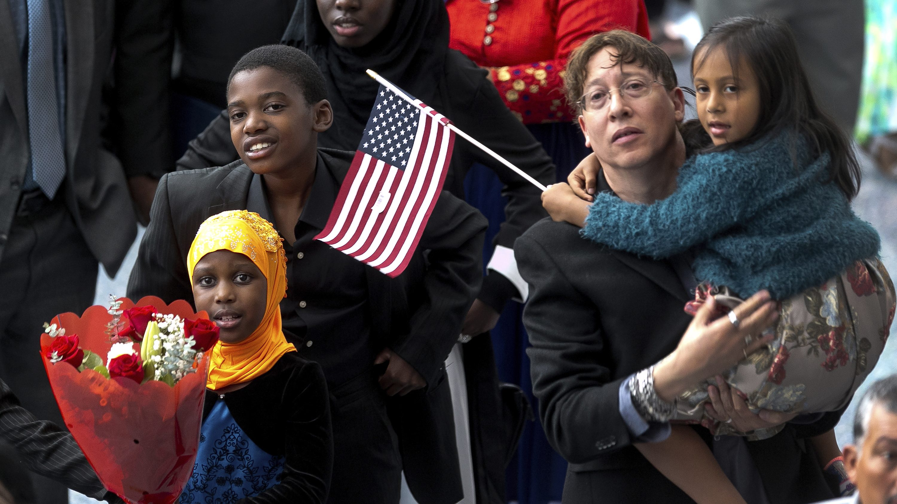 naturalization ceremonies at a U.S. Citizenship and Immigration Services