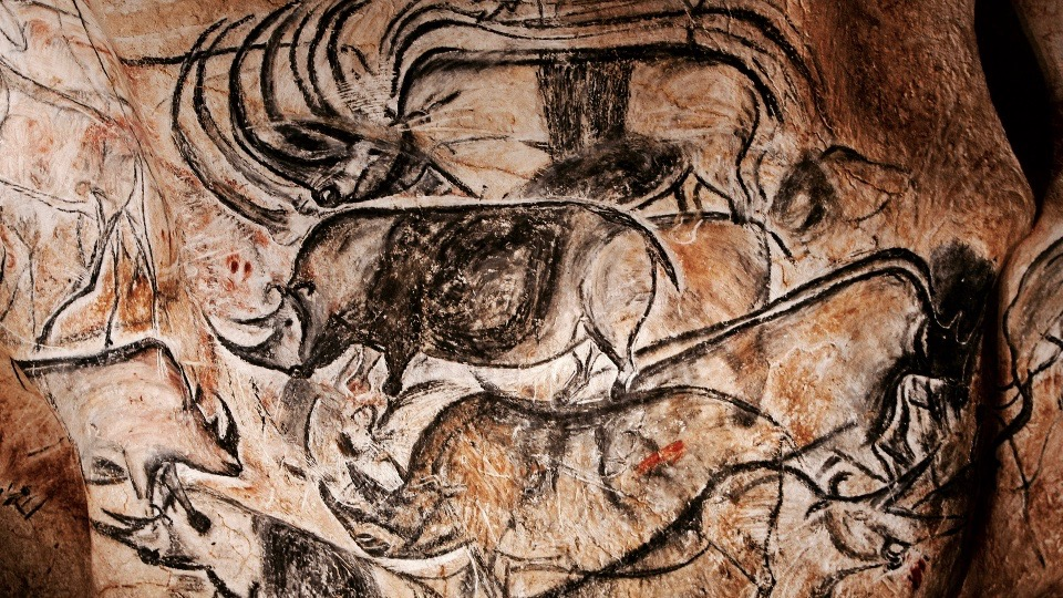 Cave painting Chauvet, France.