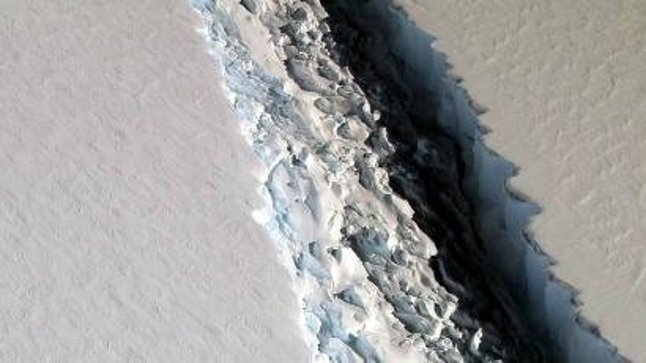 A rift in the Larsen-C ice shelf.