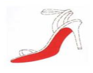 Louboutin claims Pantone 18 1663TP on high-heeled shoes.