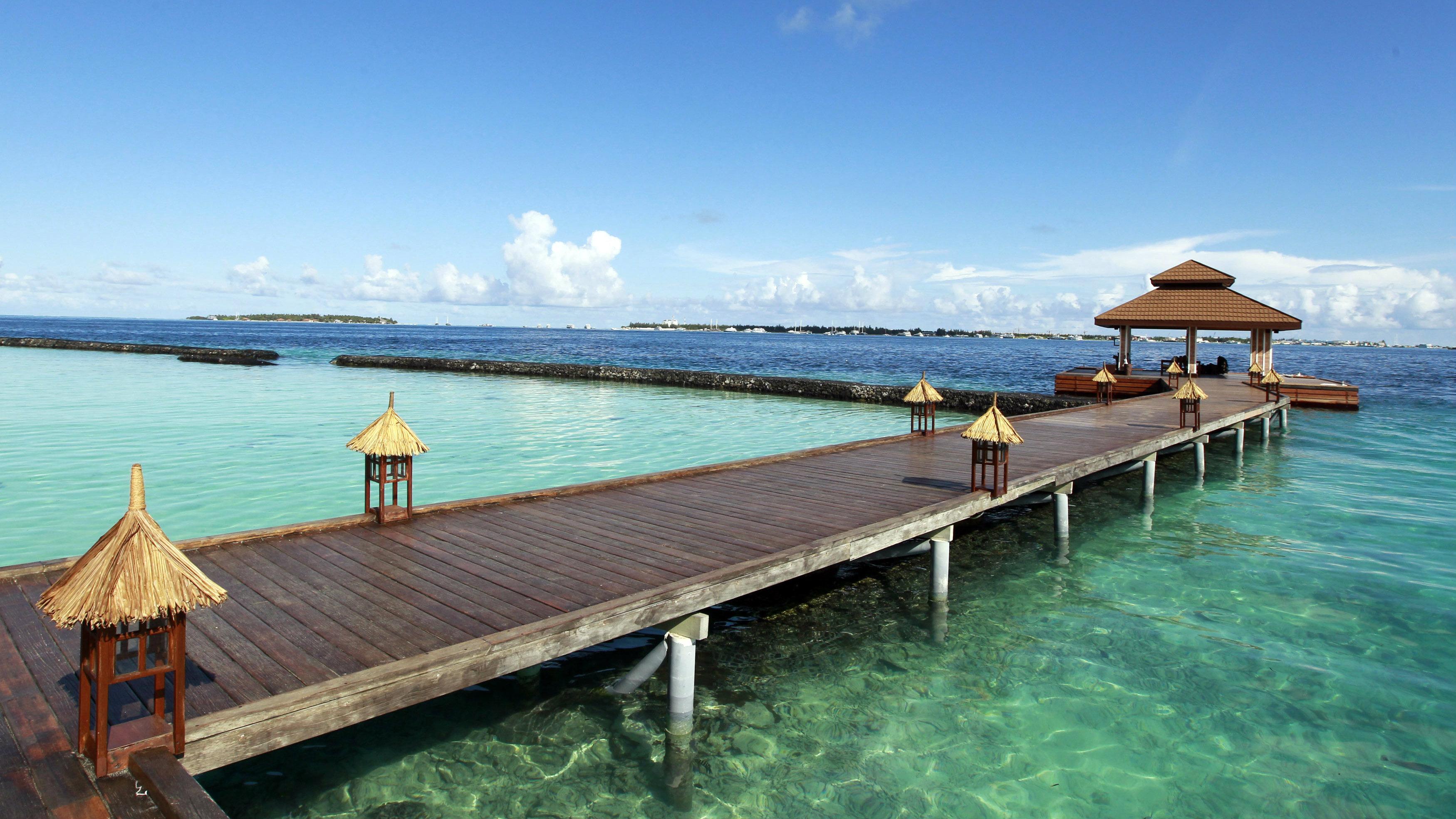 Crystal blue water Maldives