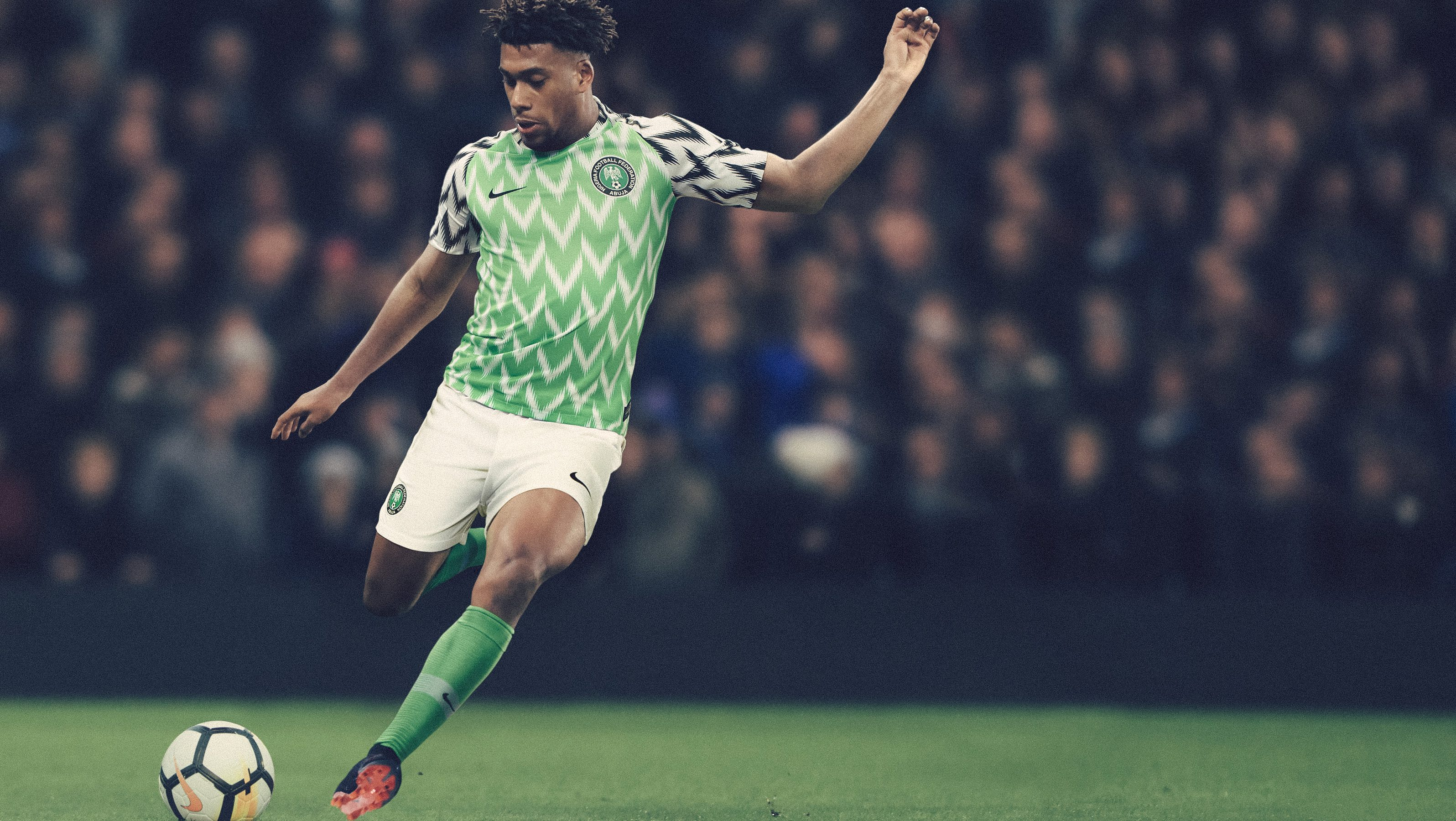 568edaf41 Nigeria says Nike has had record-breaking pre-orders for its World Cup  jersey
