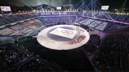 Pyeongchang 2018 Winter Olympics – Opening ceremony – Pyeongchang Olympic Stadium - Pyeongchang, South Korea – February 9, 2018 - Olympics athletes from Russia parade during the opening ceremony