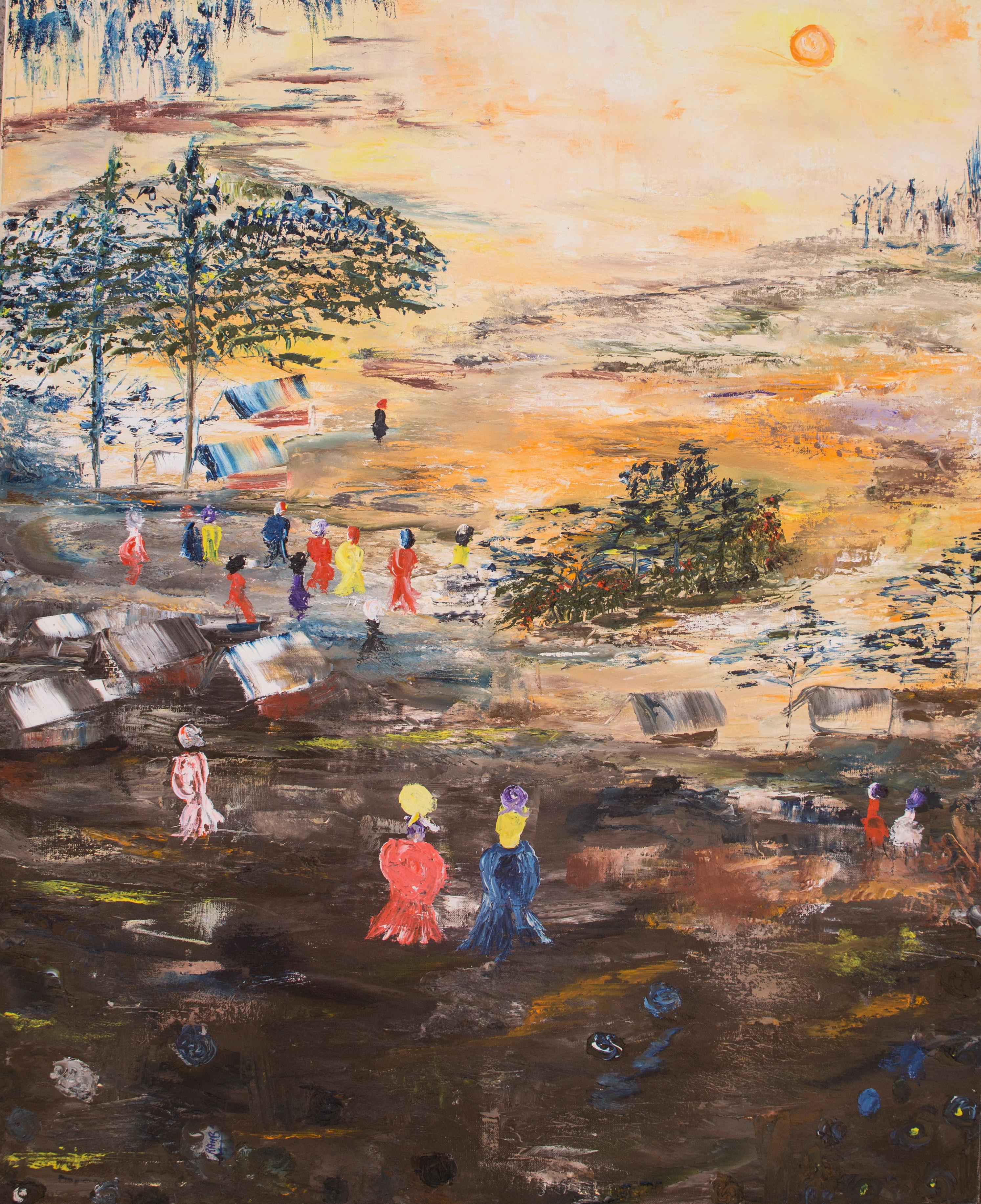 "Rahab Shine's oil on canvas ""Untitled"""