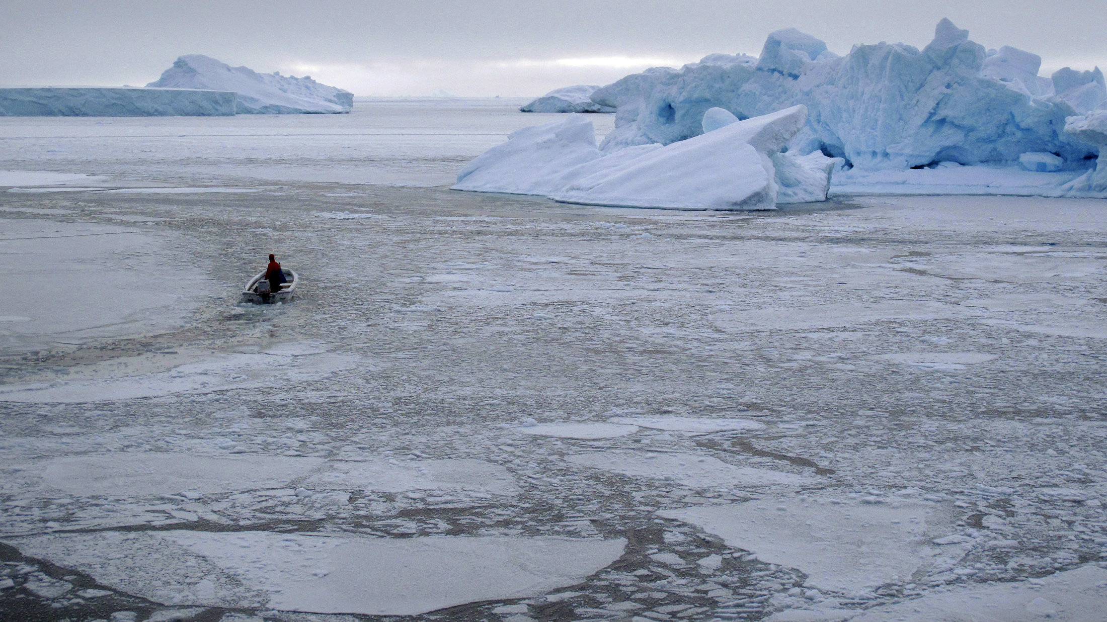 Sea-ice coverage is at its lowest recorded levels.