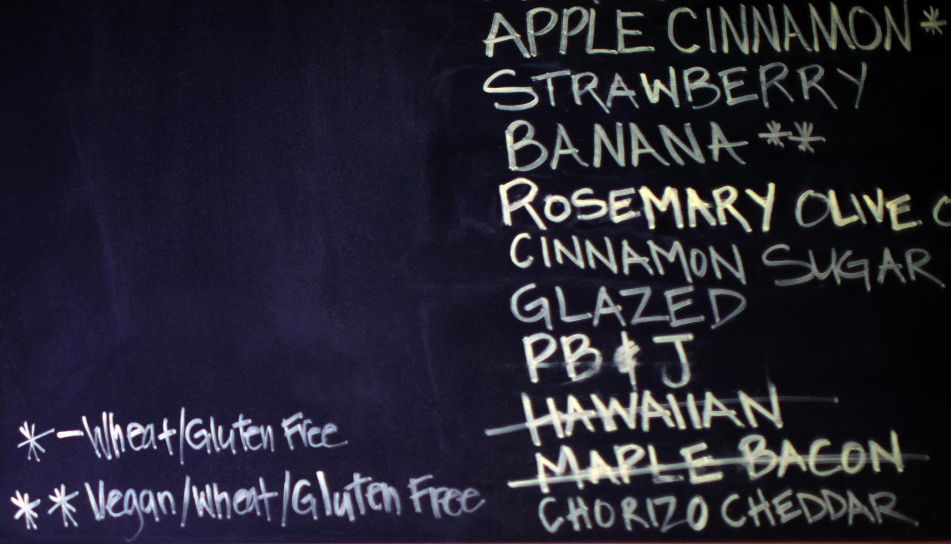 chalkboard gluten free
