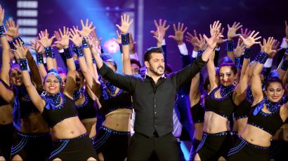 Actor Salman Khan performs at the International Indian Film Academy Awards (IIFA) show at MetLife Stadium in East Rutherford