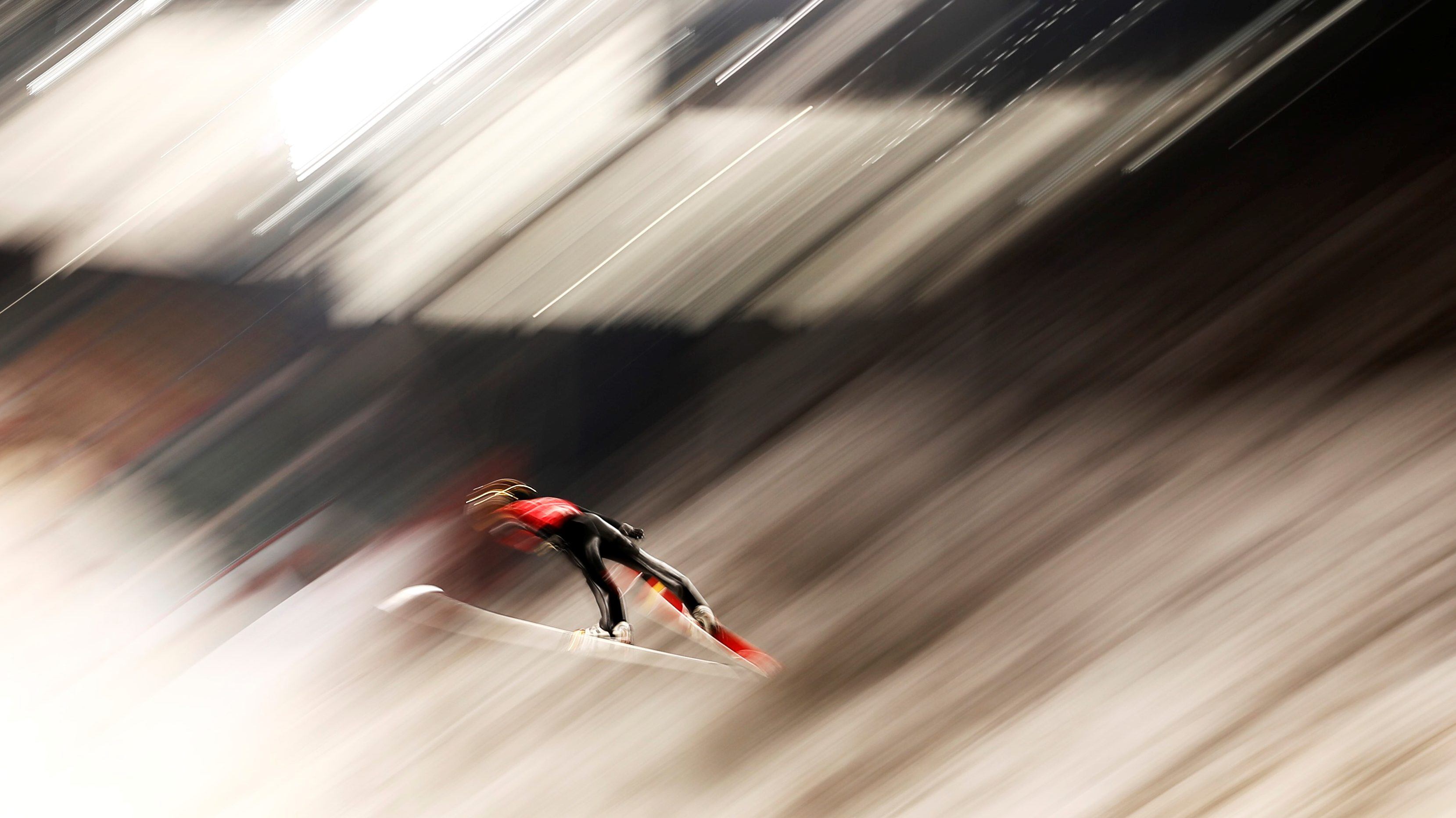 """Ski Jumping - Pyeongchang 2018 Winter Olympics - Men's Large Hill Individual Training - Alpensia Ski Jumping Centre - Pyeongchang, South Korea - February 14, 2018 - Stephan Leyhe of Germany trains. REUTERS/Dominic Ebenbichler  SEARCH """"OLYMPICS BEST"""" FOR ALL PICTURES. TPX IMAGES OF THE DAY. - RC1317A93900"""