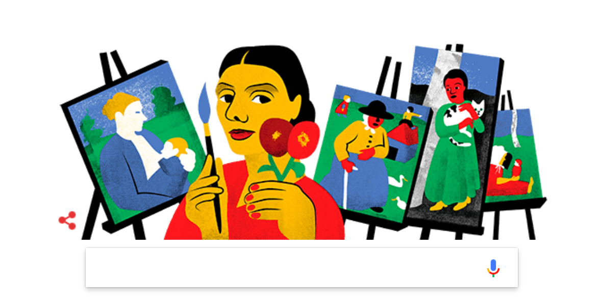 Google is celebrating the under-appreciated German artist with today's Google Doodle.