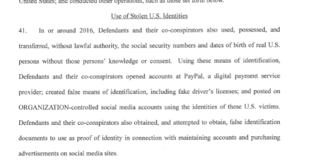 Russian election interference: Paypal (PYPL) was used by Russians to