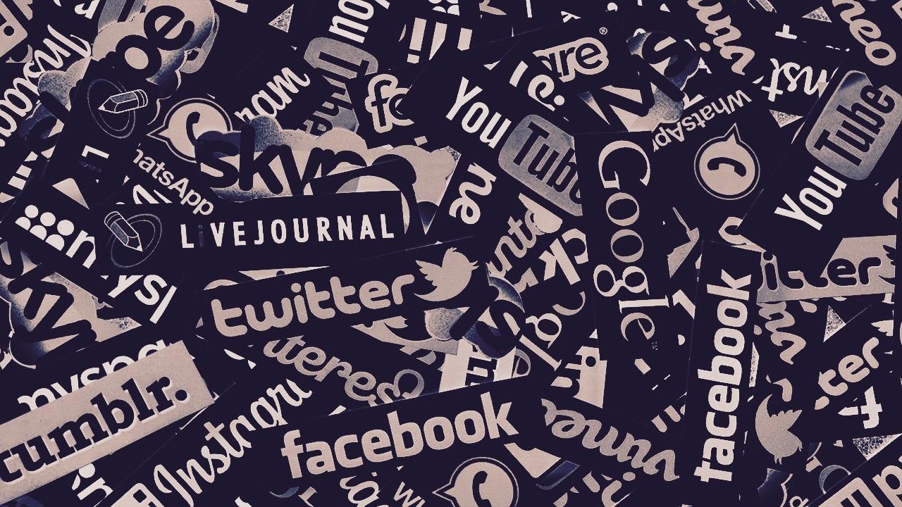 Social media site names.