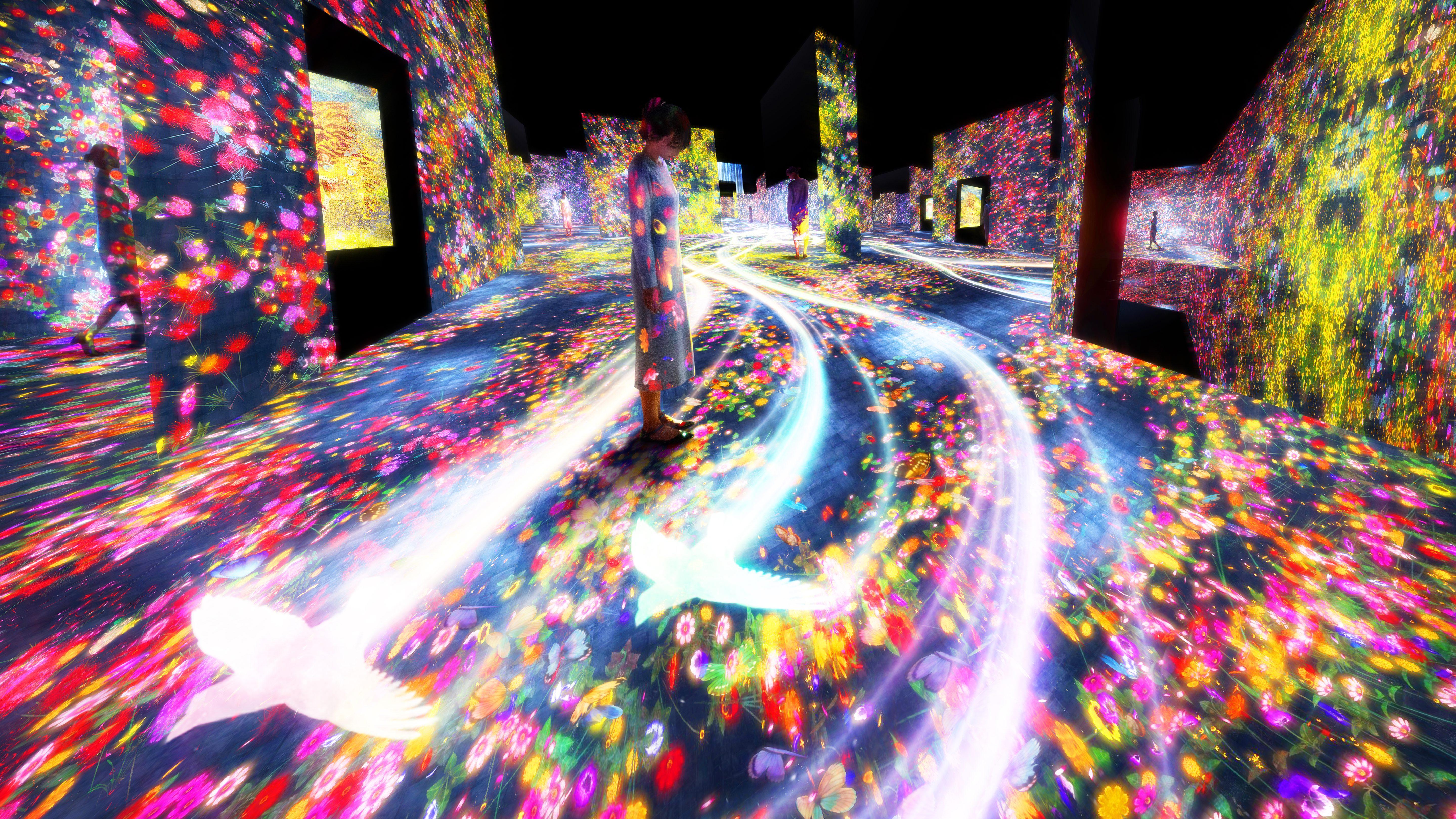 mori building digital art museum teamlab borderless in odaiba