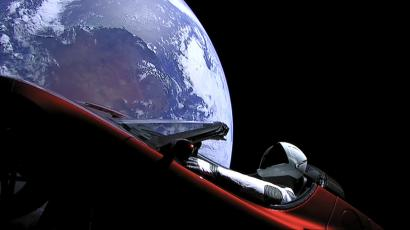 A View Of Starman In The Tesla Roadster Launched Into E On Ex