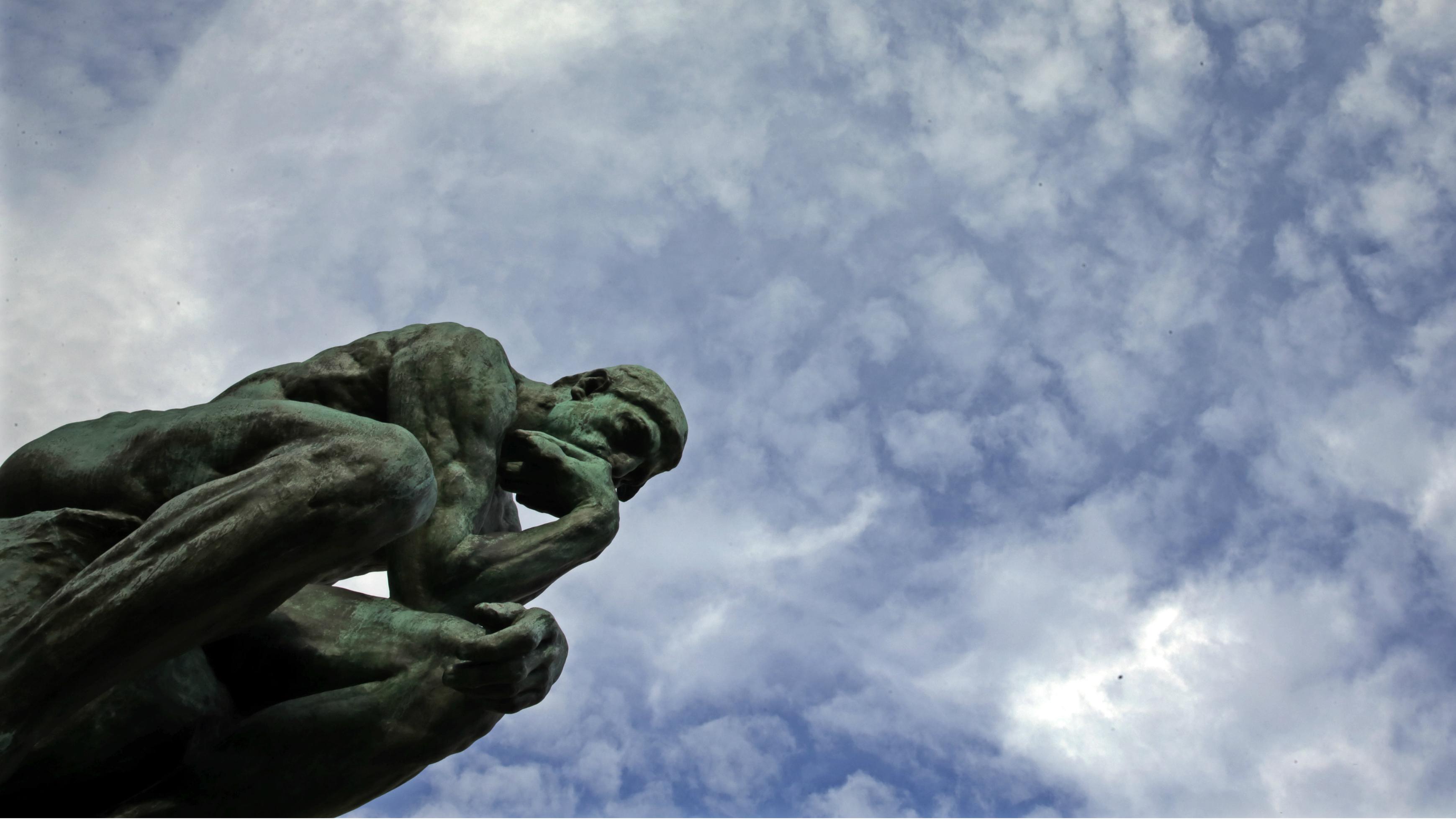 Rodin's sculpture The Thinker