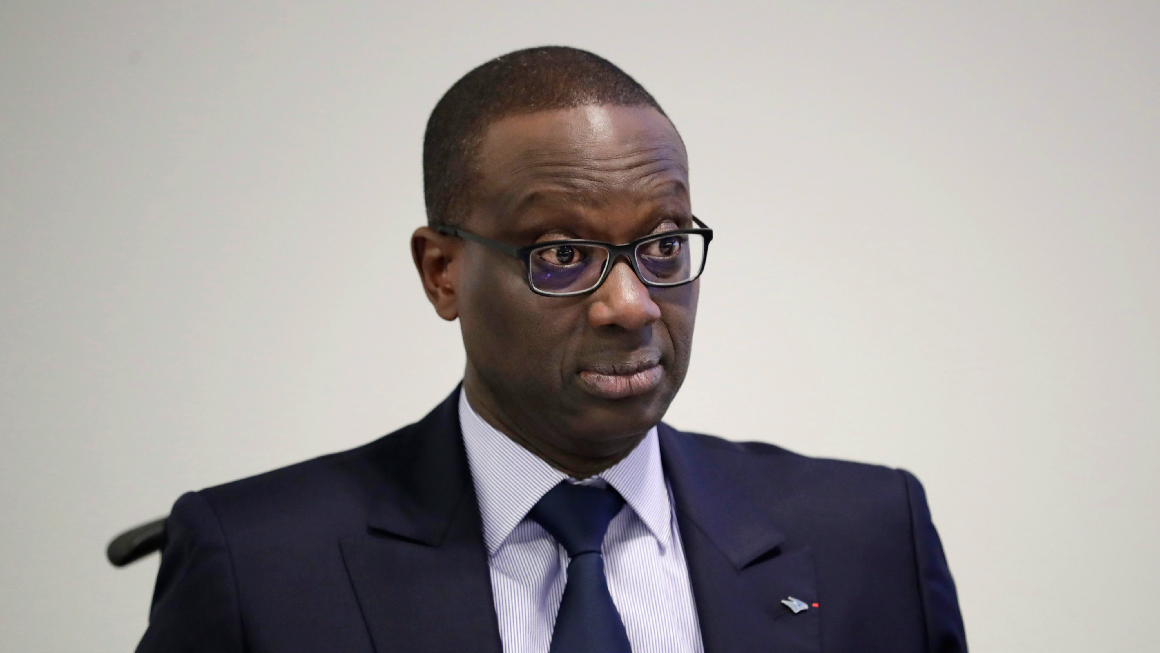 Chief Executive Tidjane Thiam of Swiss bank Credit Suisse awaits a news conference to present the company's full-year results, in Zurich, Switzerland, February 14, 2018.