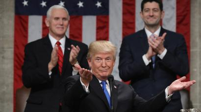 President Donald Trump delivers his first State of the Union address.