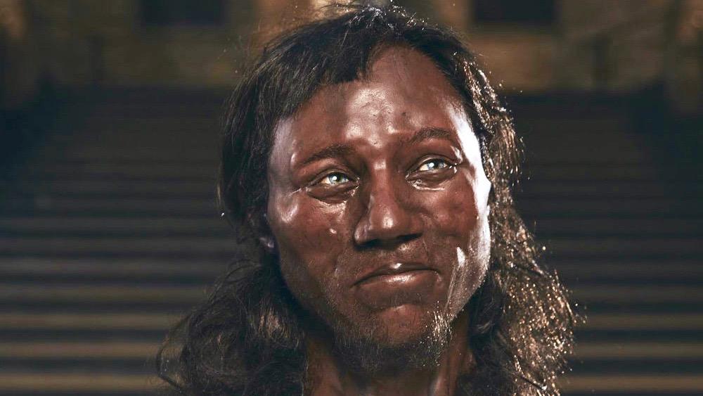 Cheddar Man facial reconstruction.