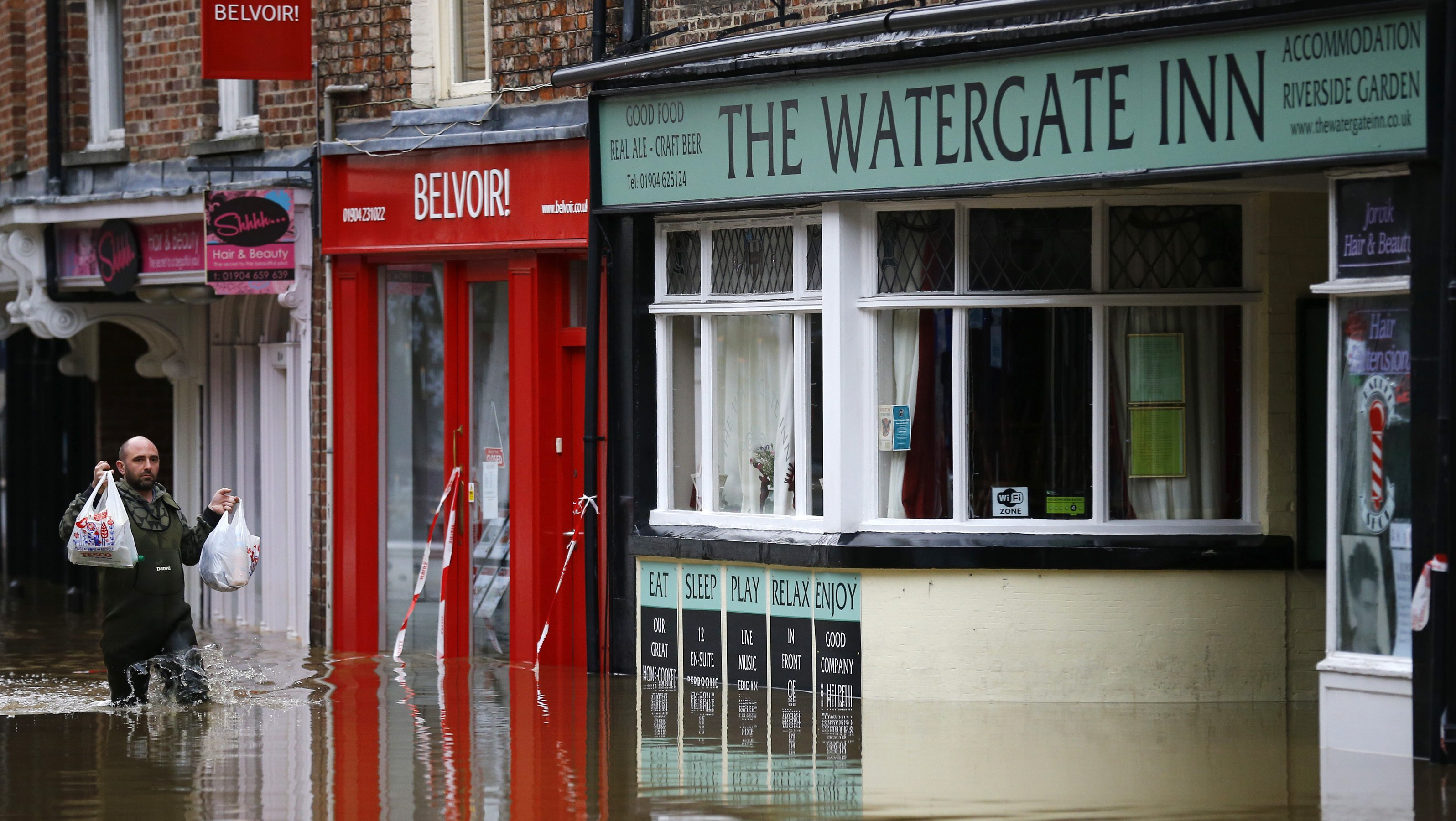 Floods are set to rise in 85% of UK cities that have a river.
