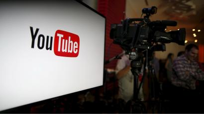 YouTube unveils their new paid subscription service at the YouTube Space LA in Playa Del Rey, Los Angeles, California, United States October 21, 2015. Alphabet Inc's YouTube will launch a $10-a-month subscription option in the United States on October 28 that will allow viewers to watch videos from across the site without interruption from advertisements
