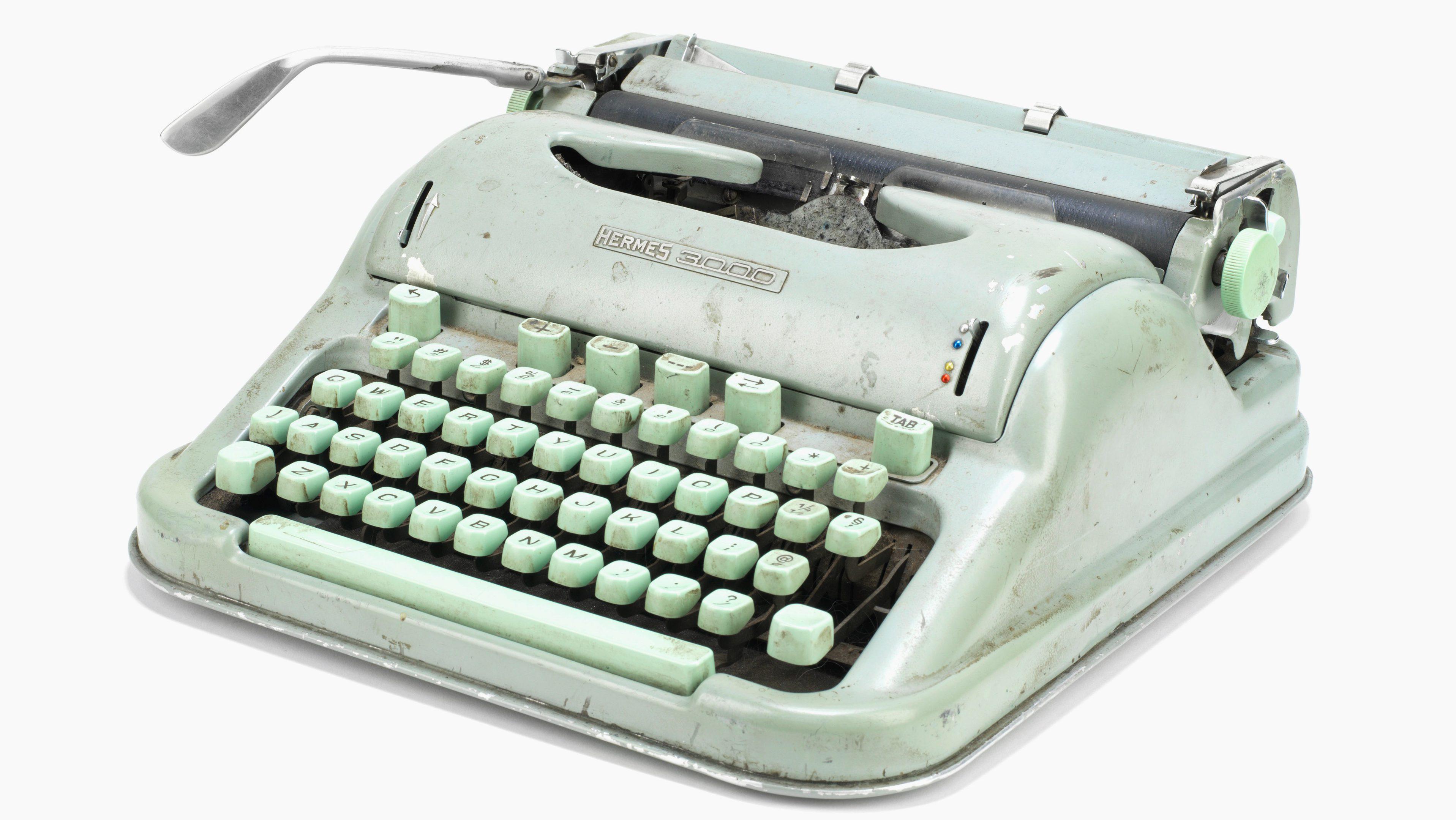 Sylvia Plath typewriter