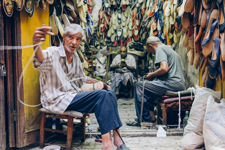 A cordwainer (shoe maker)