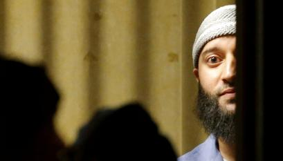 Adnan Syed leaves the courtroom on March 29