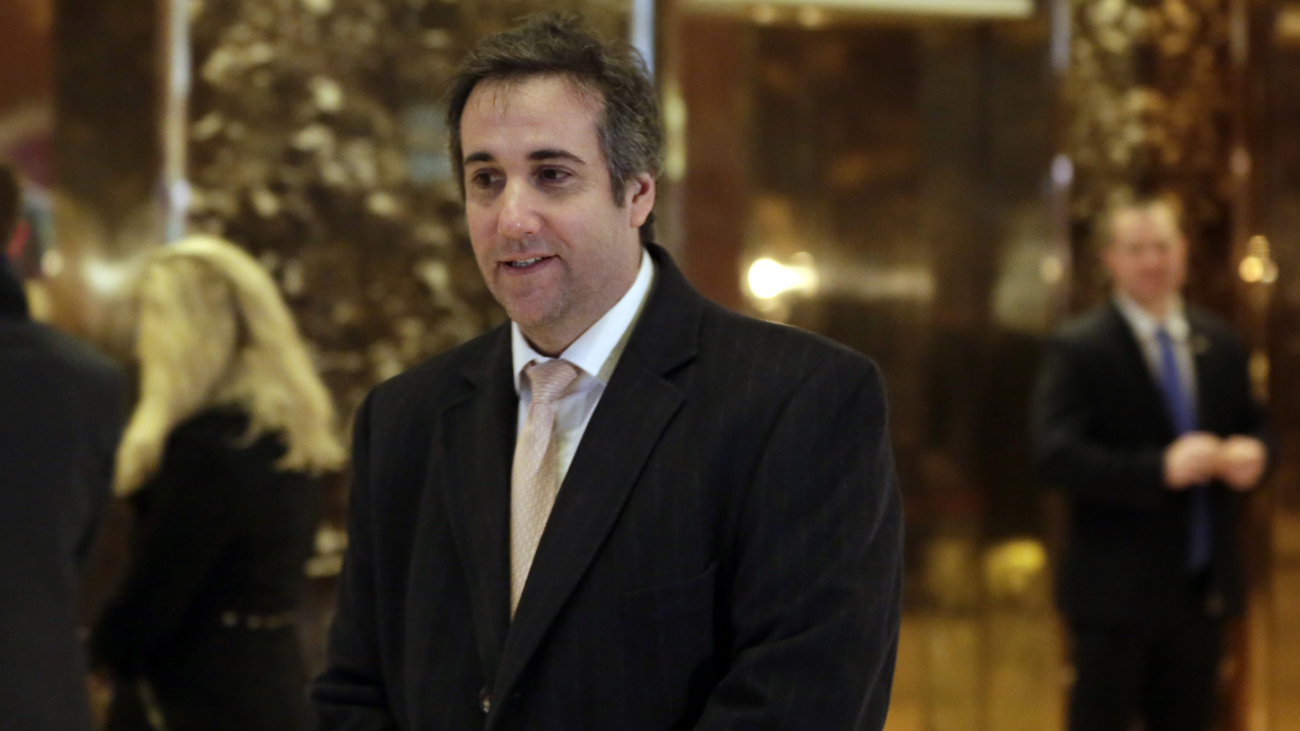 Michael Cohen, an attorney for Donald Trump, arrives in Trump Tower, in New York, Friday, Dec. 16, 2016. (AP Photo/Richard Drew)