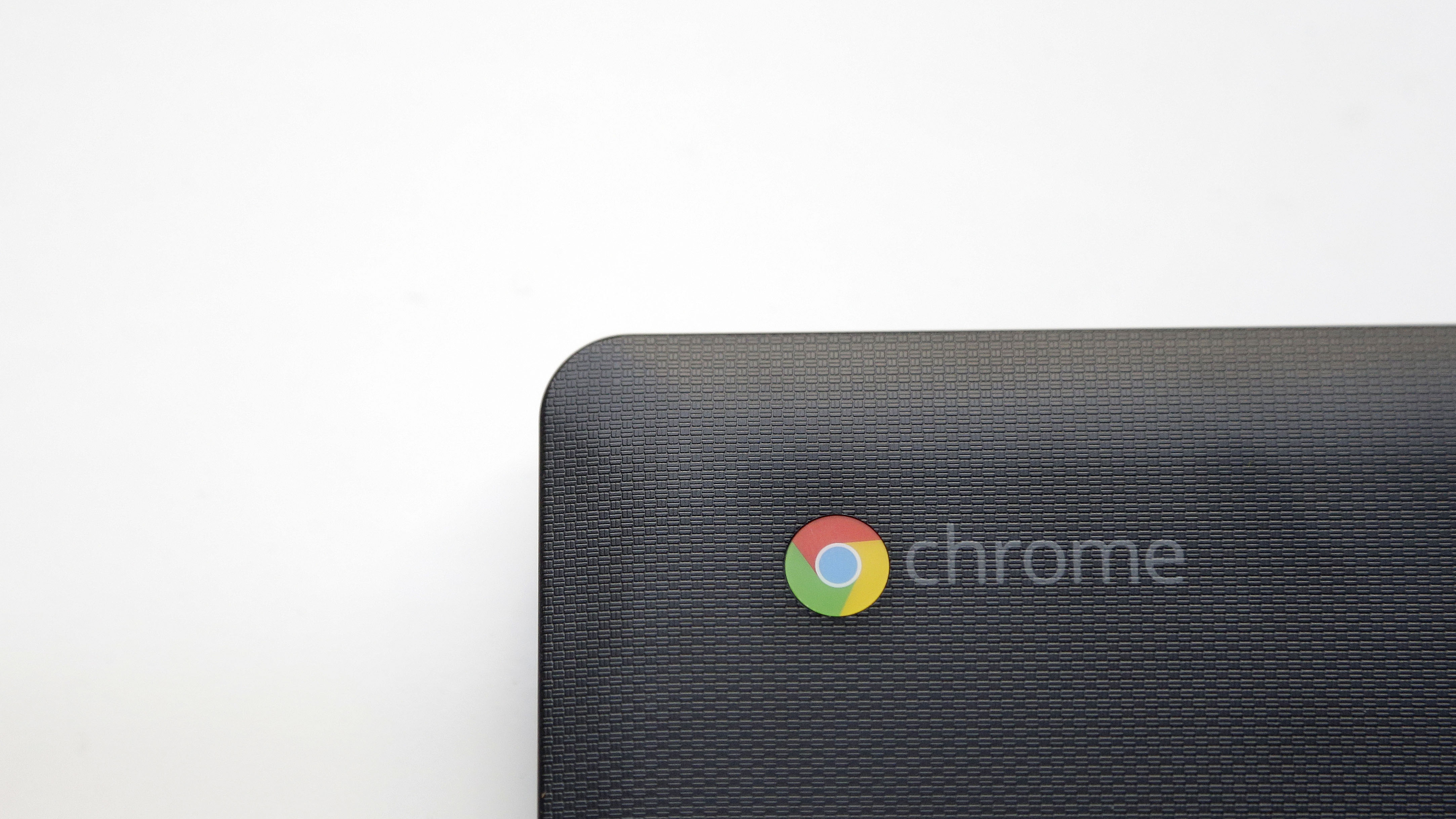 This Monday, March 30, 2015 photo shows a Hisense Chrome laptop in San Francisco. Google and Microsoft are releasing cheaper laptops and tablets in an effort to reach students, budget-conscious families and overseas markets. (AP Photo/Jeff Chiu)