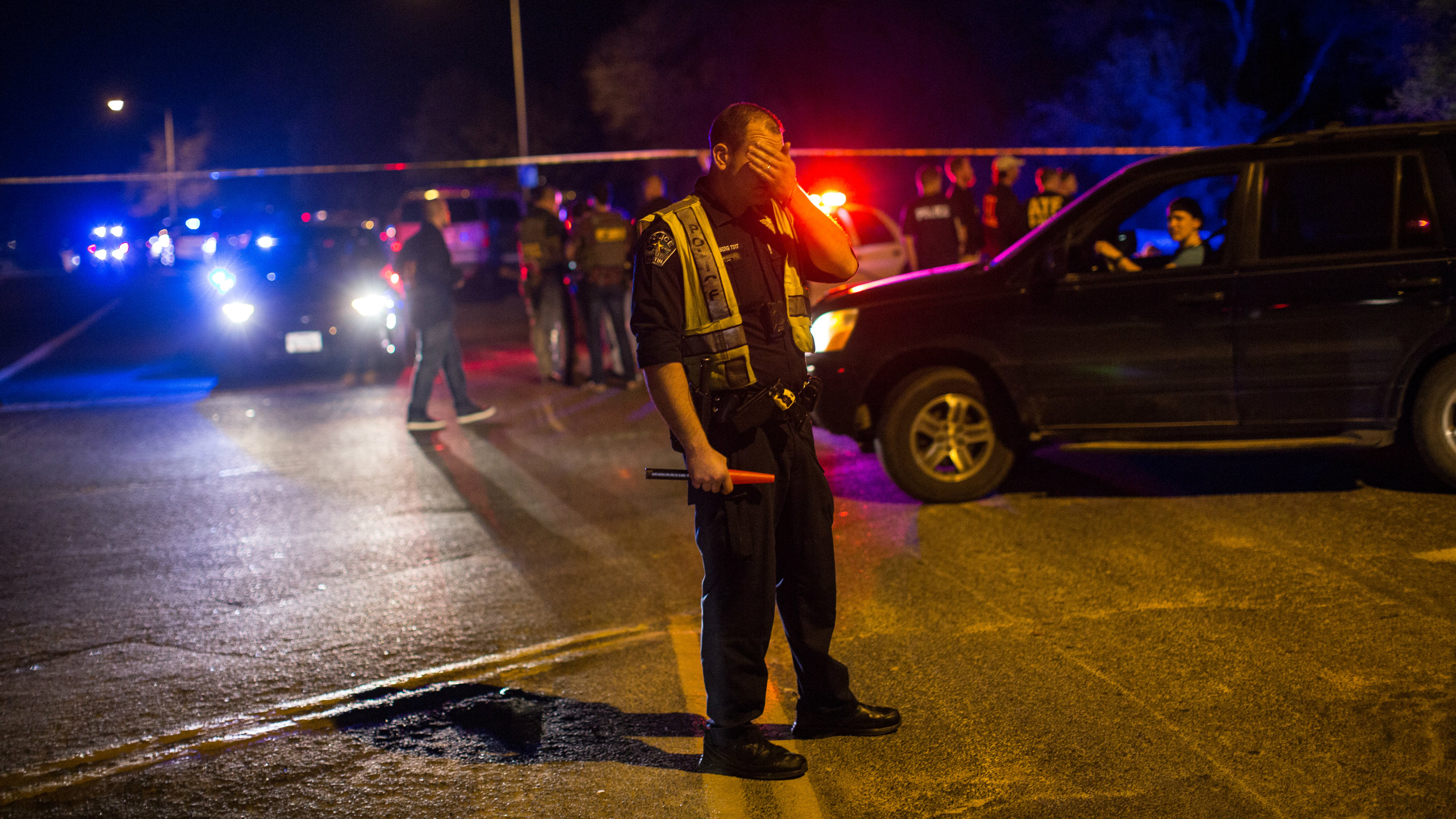 Police maintain a cordon near the site of an incident reported as an explosion in southwest Austin, Texas, U.S. March 18, 2018.