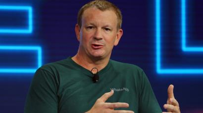 Brian Acton, co-founder of WhatsApp, speaks at the WSJD Live conference in Laguna Beach, California